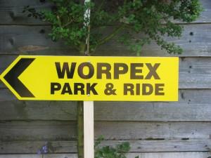 Worpex Park & Ride Sign